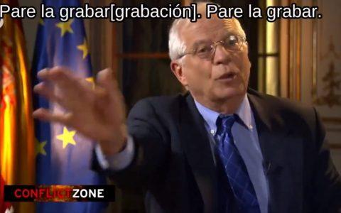 Borrell es Trending Topic por abandonar una entrevista en la que le hacían preguntas de dudosa calidad periodística