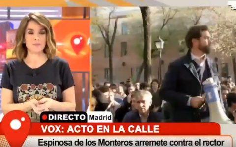 """""""Señor Espinosa, estamos en directo para Cuatro"""""""