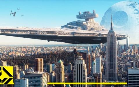 Comparando el tamaño de las naves de Star Wars con ciudades y edificaciones reales