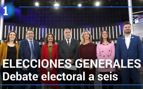 El debate a seis de TVE