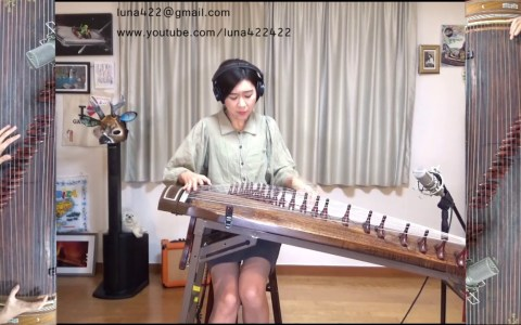 Feel Good Inc de Gorillaz con un Gayageum coreano