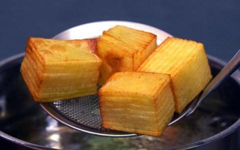"""Patatas bravas estilo """"milhojas"""""""