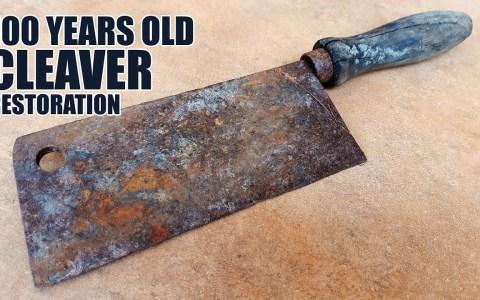 Restaurando un machete de 100 años