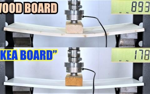 Resistencia de un tablero de Ikea vs una tabla normal, una de DM, y otros tipos de madera