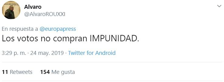 Pues fíjate que no me imagino yo a Irene Montera defendiendo que un pepero preso pueda ir al congreso...