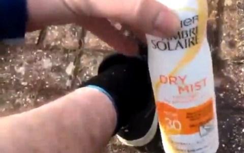 Tutorial: cómo echarte crema solar en las piernas