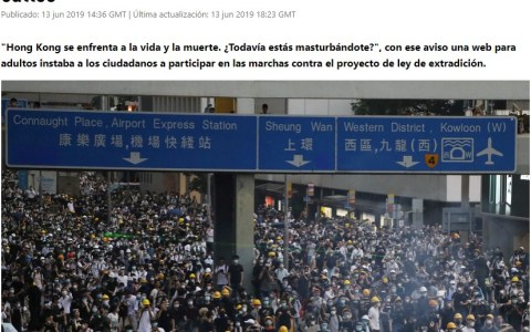 Los chinos sí que saben movilizar a los suyos...