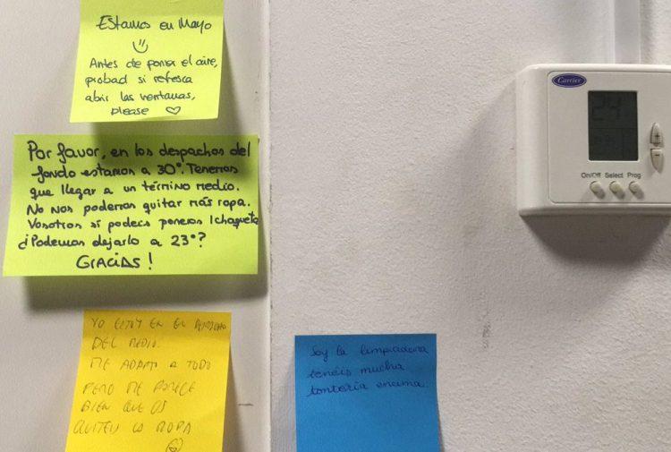 Las guerras del termostato han empezado en la oficina...