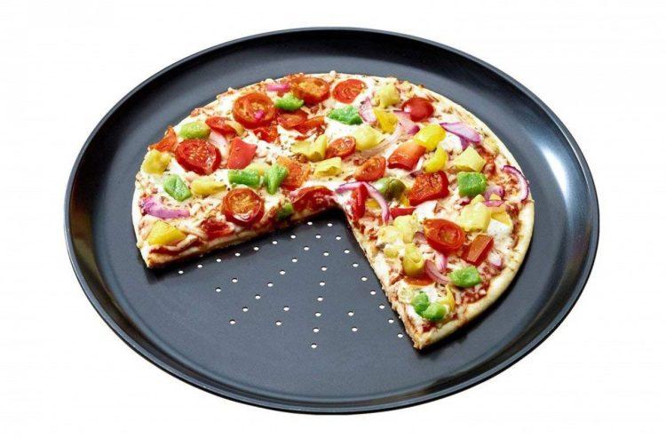 Bandeja para hacer 3 pizzas a la vez en el horno