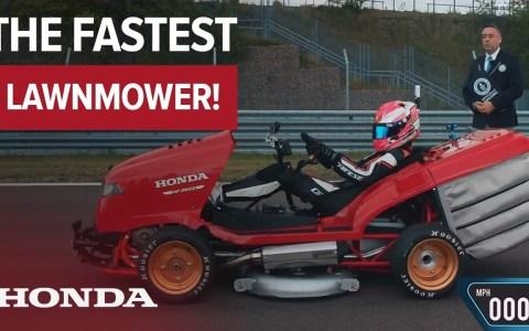 El cortacésped más rápido del mundo
