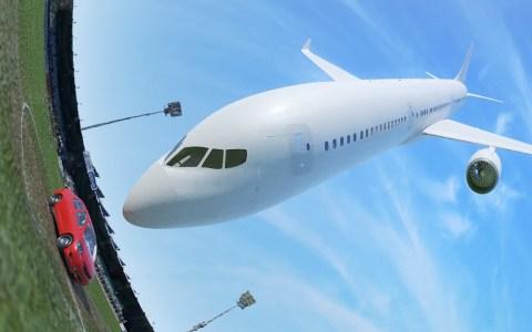 ¿Qué pasaría si un avión de pasajeros impacta contra un coche?
