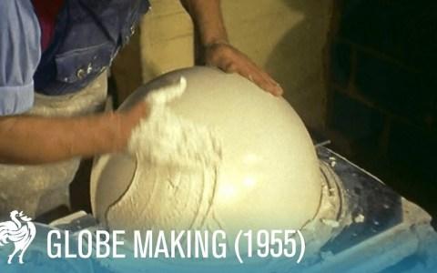 Así se hacían los globos terráqueos antes de Google Maps 😎
