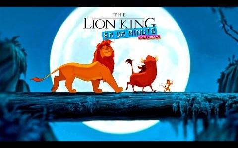 El rey león en un minuto y así nomas.