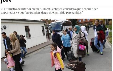 """""""Muy refugiado no serás si vuelves a tu país de visita"""", habrán pensado los alemanes..."""