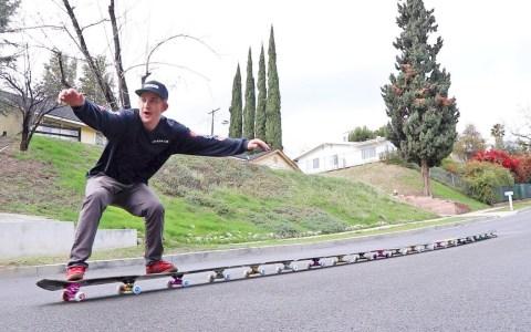 El ciempiés de skates