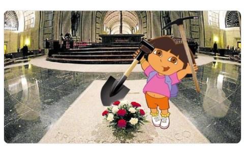 Por eso no quieren que abramos la tumba de Franco; PORQUE NO ESTÁ DENTRO