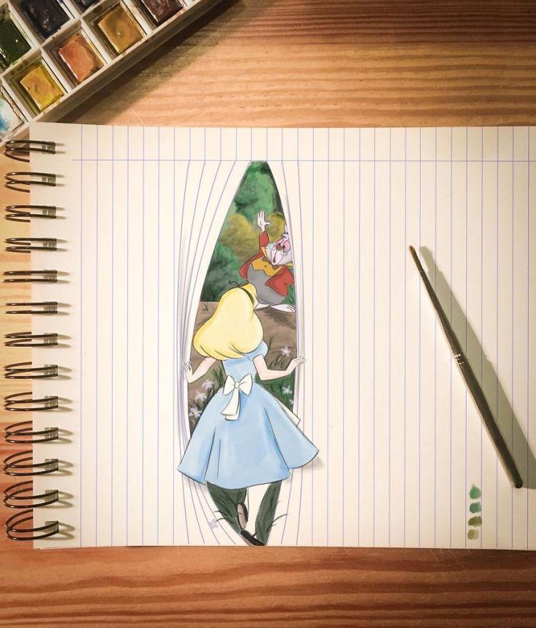 Ilustraciones que juegan con la realidad by Kemo Volo