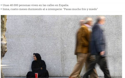 Aumenta la cifra de mujeres sin hogar
