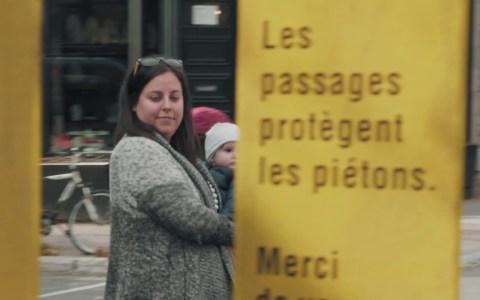 Curiosa campaña publicitaria de concienciación para que los coches respeten los pasos de cebra