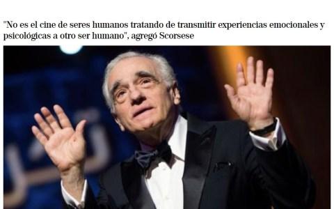 """Scorsese dijo que las pelis de Marvel """"no son cine"""""""