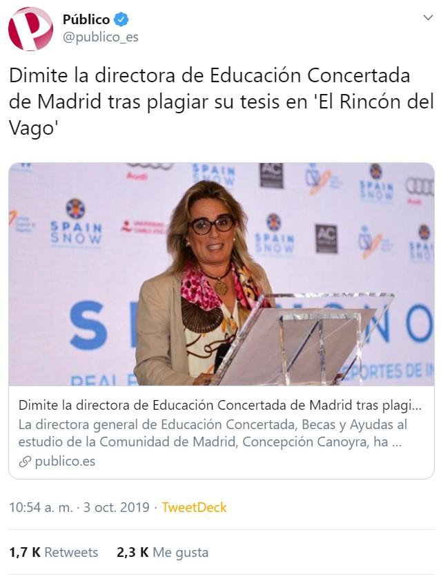 Directora de educación, ojo DE EDUCACIÓN