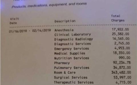 La escandalosa factura médica de un hospital de EE.UU.: 619.000 dólares por una operación de rodilla