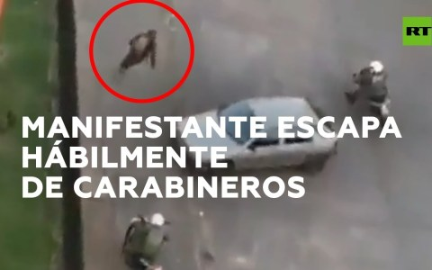 Jakiando a la policía chilena