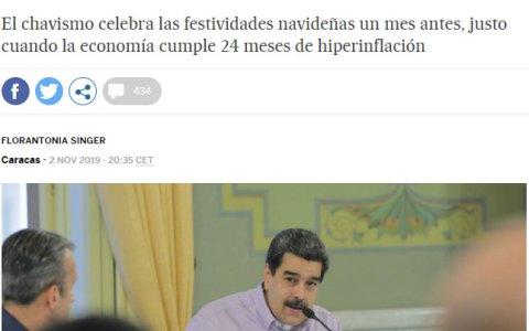 ¿Os habéis fijado que cada año la navidad comienza antes? ¡Es culpa de Nicolás Maduro!