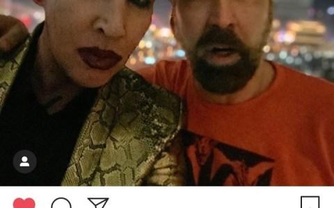 Marilyn ha publicado una foto con Nicolas Cage, así que ya podemos decir que no son la misma persona