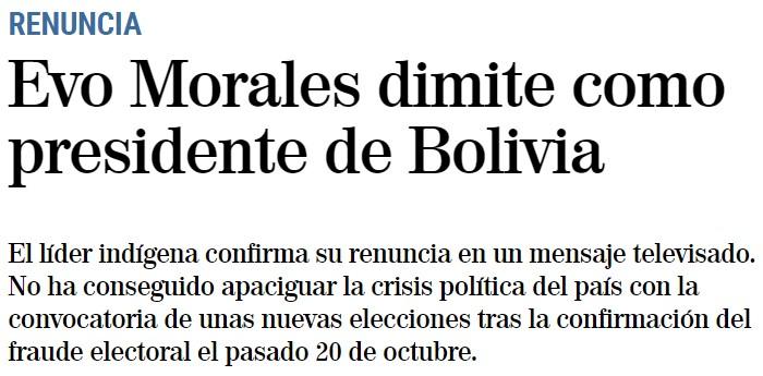 Dimite Mitsubishi EVO Morales después del pillote manipulando las elecciones