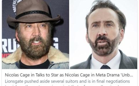 Con un argumento algo retorcido, Nicolas Cage tendría que representar a un Nicolas Cage desesperado por obtener un papel en un nuevo filme de Quentin Tarantino y, al mismo tiempo, que lidia con una tensa relación con su hija adolescente.