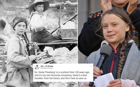 Greta Thunberg tiene 121 años o viaja en el tiempo