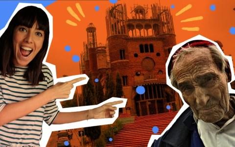 El hombre que lleva 50 años construyendo una catedral con sus propias manos.