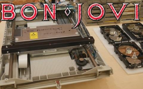 FLOPPOTRON   Livin' on a Prayer interpretado por escáners, discos duros hdd, y disqueteras
