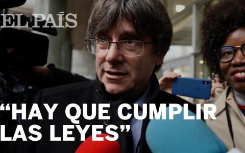 """Puigdemont: """"Hay que cumplir las leyes"""""""