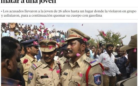 La policía india no se anda con chiquitas...
