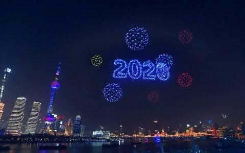 2000 drones sobre Shanghai para celebrar la nueva década