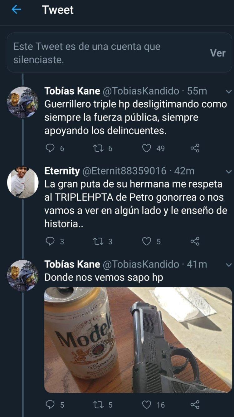 En Colombia cuando se pelean en redes, se pelean en serio 👊