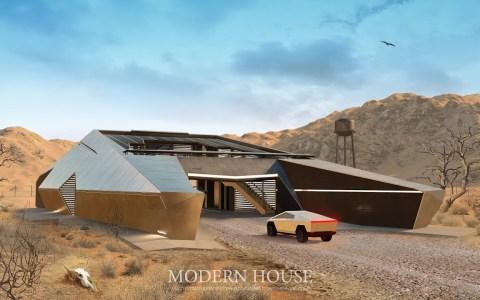 Cyberhouse: una casa horrenda preparada para un apocalipsis zombi, basada en el Tesla Cybertruck