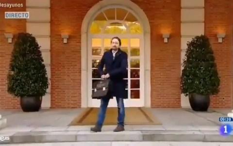 Los nuevos ministros toman posesión de sus cargos, Pablo Iglesias cumple un sueño