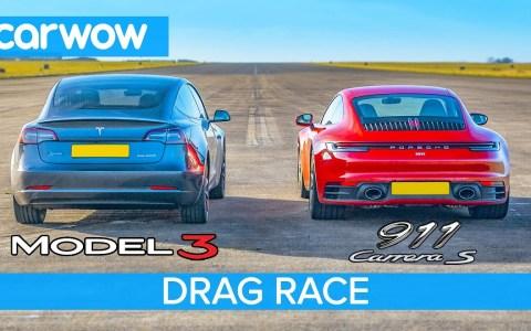 Tesla Model 3 Performance vs Porsche 911