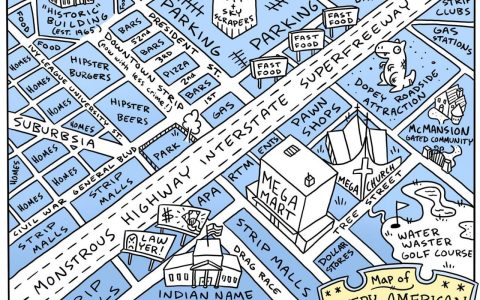 Todas las ciudades de EEUU y Europa resumidas en dos mapas