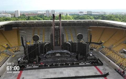 Así se prepara un estadio para acoger un concierto de Rammstein