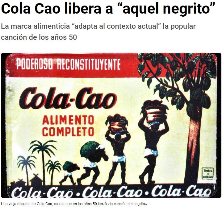 """El policorrectismo alcanza a Cola-Cao, que renueva su canción para evitar decir """"negrito"""""""