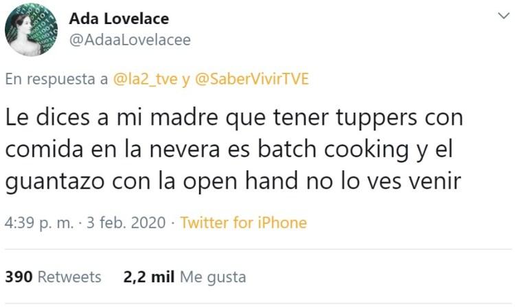 Encima es Batch Cooking... 🤦♂️