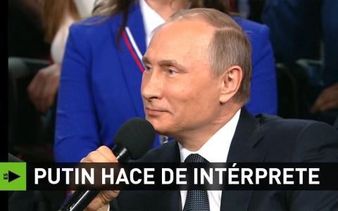 El día que Putin tuvo que hacer de traductor para un periodista alemán porque no había intérprete