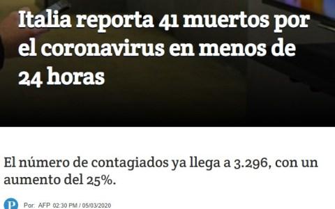 41 muertos en un día...
