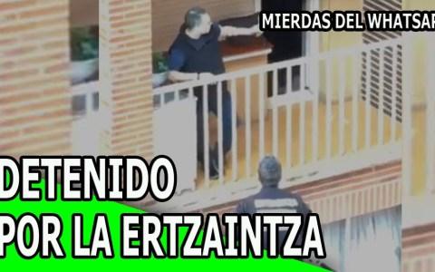 Detenido por la Ertzainza en un balón después de decirle a un vecino que había gente fiambre en su casa