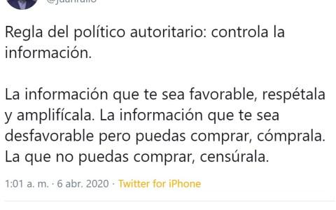 Juan Rallo se ha calentado en Twitter porque el gobierno quiere prohibir los bulos sancionando a la gente que los cree y/o los propague
