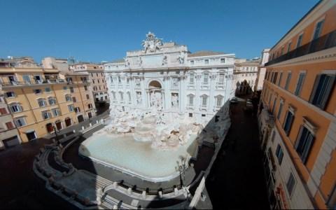 La Fontana di Trevi como nunca antes la habías visto
